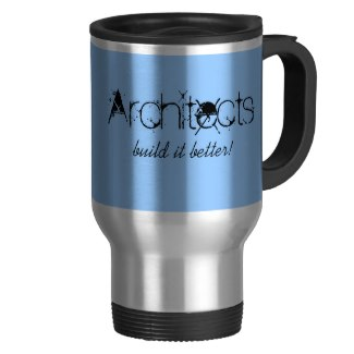 Personalized Blue Stainless Steel Architect Mug