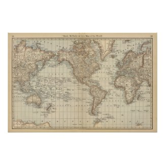 Map of the World 2 Posters