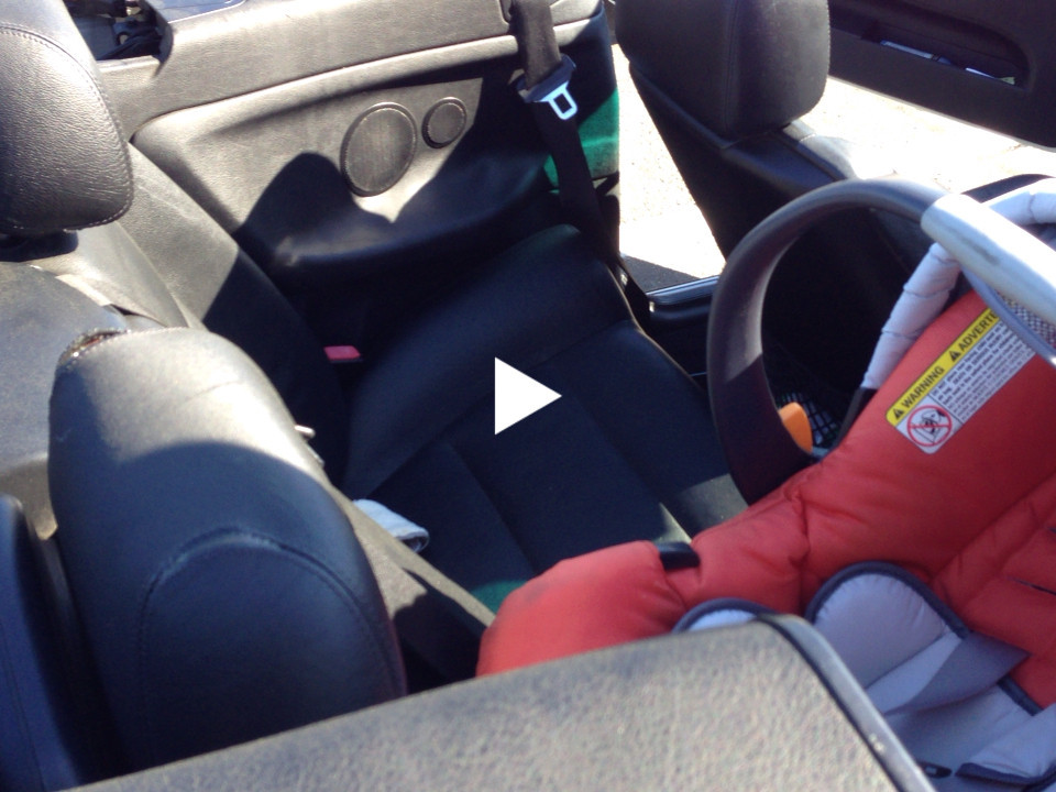 Pro tips on installing an infant car seat in a BMW convertible