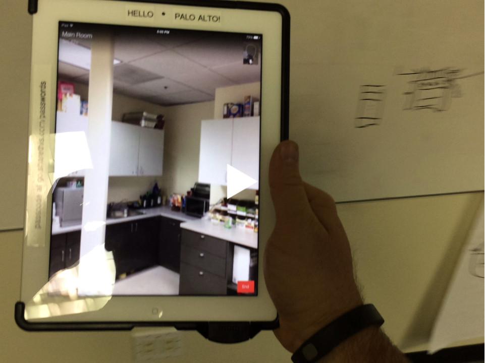Perch app iPad portal between NYC and Palo Alto
