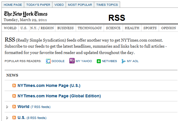 New York Times - RSS Feed