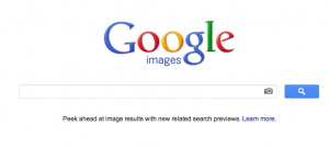 Google Image Search website