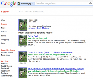SERPs results for Google Image Search