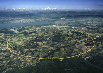 Image - aerial view of the LHC at CERN