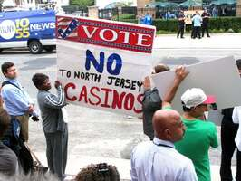 anti-gambling protest, picture USA Today.